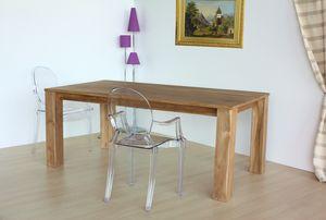 Mesa square, Mesa rectangular en madera de teca natural