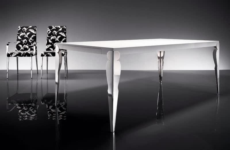 ART. 257/F HOLLYWOOD TABLE, Mesa del comedor moderna, sala de estar