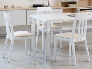 Complementi Tavoli e Consolle 15, Sencilla tabla de madera y metal, para la vida moderna