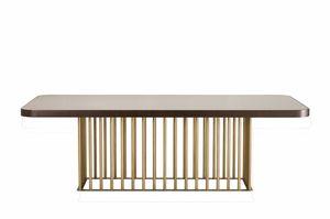 Empire mesa, Mesa con base original en acabado en bronce