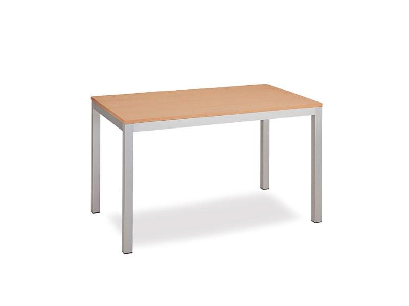 FT 044 rectangular, Mesa con diseño limpio, de metal, para la sala de reunión