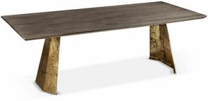 Icaro mesa, Mesa rectangular con base de hierro