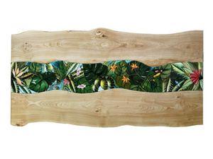 Life Amazzonia, Mesa con tapa de madera y piedra volcánica