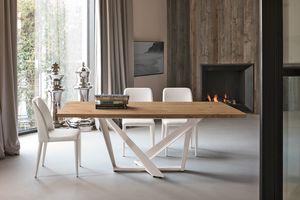 PRIAMO TP157, Mesa con elegante base decorativa.