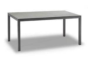 TAVOLO MESSICO, Mesa en aluminio pintado de antracita