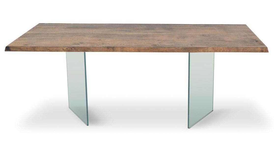 Mesas de madera y vidrio mesa de comedor de vidrio con for Mesas de comedor en vidrio y madera