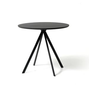 Margarita tavolo, Mesa redonda con patas de metal 4, con la parte superior de polietileno
