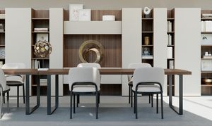 GEORGE rectangular, Mesa rectangular con dise�o limpio, para Office