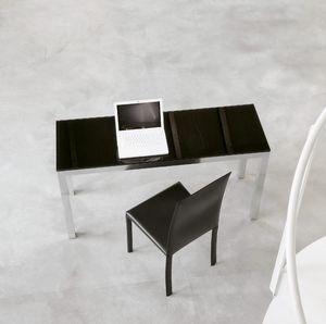 dl50 parigi, Mesa sedign de la oficina, aluminio y vidrio