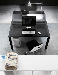 Sushi Workstation, Mesa de oficina con accesorios, con guía de cables