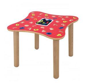 MARAMEO/N, Mesa educativo con los números, hecho de madera contrachapada de abedul