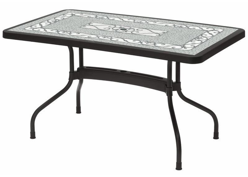 Ribalto Top table 140x80, Mesa de jardín con superficie plegable