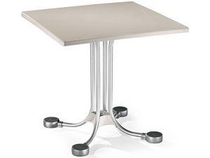 Table 80x80 cod. 23, Bar mesa cuadrada con contrapesos de aluminio