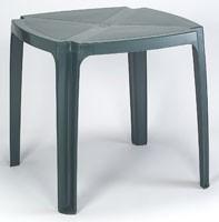 Tavolo 75x75, Mesa hecha de resina, para jardines