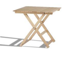 Anni 60, Mesas plegables de madera, para interiores y exteriores
