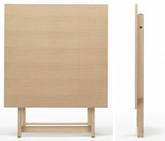 Anni 60, Mesa plegable, en madera, con tapa redonda, para al aire libre