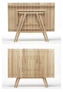 Enea Rectangular, Mesas plegables de madera, para catering