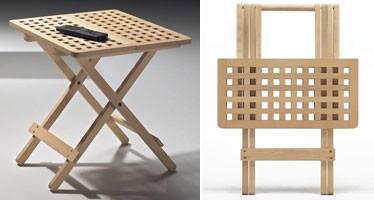 Fifty - Fifty, Mesas plegables ahorran espacio, hechos de madera de haya