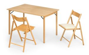 Italo, Mesa de madera plegable