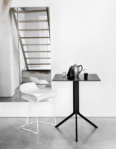 Poule cuadrada, Mesa de diseño plegable cuadrada, para exterior
