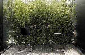 Poule Rectangular alta, Mesa de diseño alto rectangular, para barra al aire libre