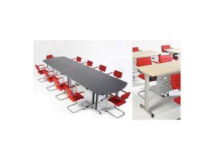 Configure-8 C.834, Mesa plegable para oficinas y hoteles, ligero y robusto