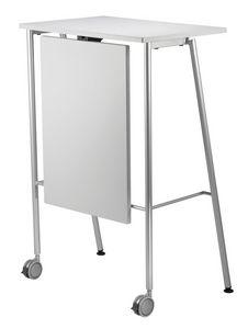GIKO 755 + OPT, Mesa alta con base metálica, para oficinas y escuelas
