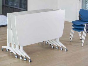 Jimmy, Mesa plegable modular, sobre ruedas