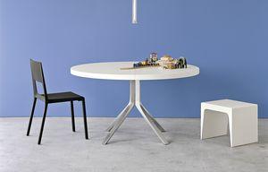 Oops, Mesa extensible redonda para el hogar y la oficina