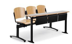 tablas de Universidades, Mesas de madera y metal adecuados para las universidades