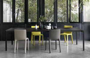 Thin-k Longo, Mesa de diseño, con parte superior delgada y extendida, para oficina