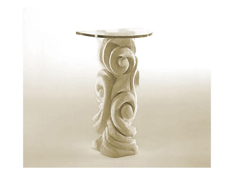 Apamea, La tabla con columna de piedra y tapa de cristal