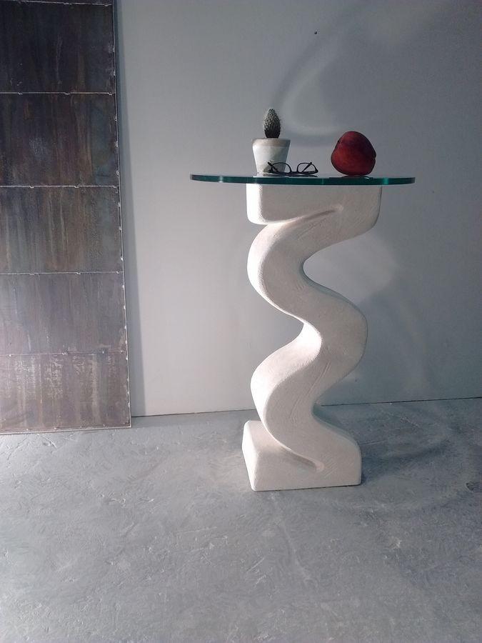 Flex, Columna con base de piedra, tapa de cristal
