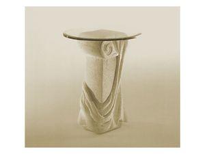 Saffo, Mesa con la parte superior en la columna de vidrio y piedra