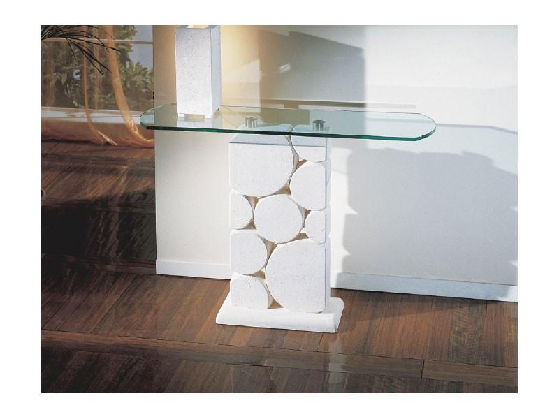 Sfera, Tabla con la columna de piedra blanca tallada