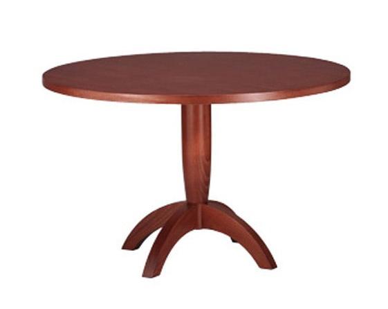 607, Mesa con tapa redonda, en madera de haya, para la cocina