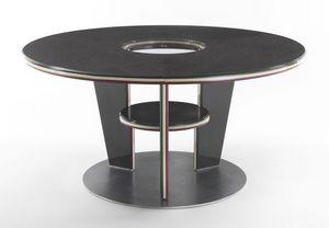 Tabla tres rondas, Mesa redonda con un estilo moderno, hecha de laminado
