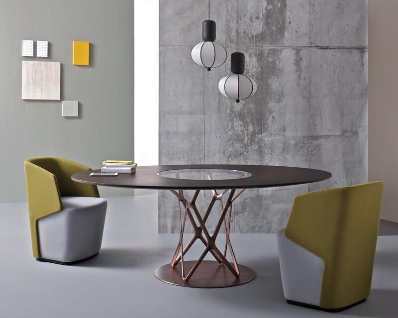 Diseño mesa, tapa de cristal, para el comedor | IDFdesign
