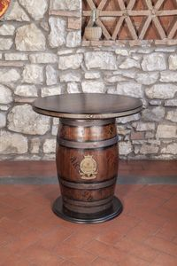 Art. CT 630, Mesa con forma de barril, estilo rústico