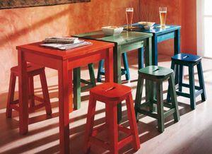 Bar, Mesa de madera maciza de pino para restaurantes