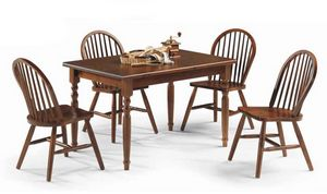 Bormio, Mesa de madera rústica, para restaurantes y pubs rurales.