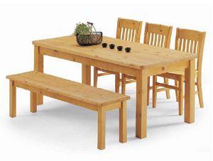 Malenco-T, Mesa de madera de pino, para mobiliario rústico