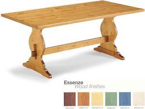 T/204, Mesa de madera rústica con reposapiés, para los bares