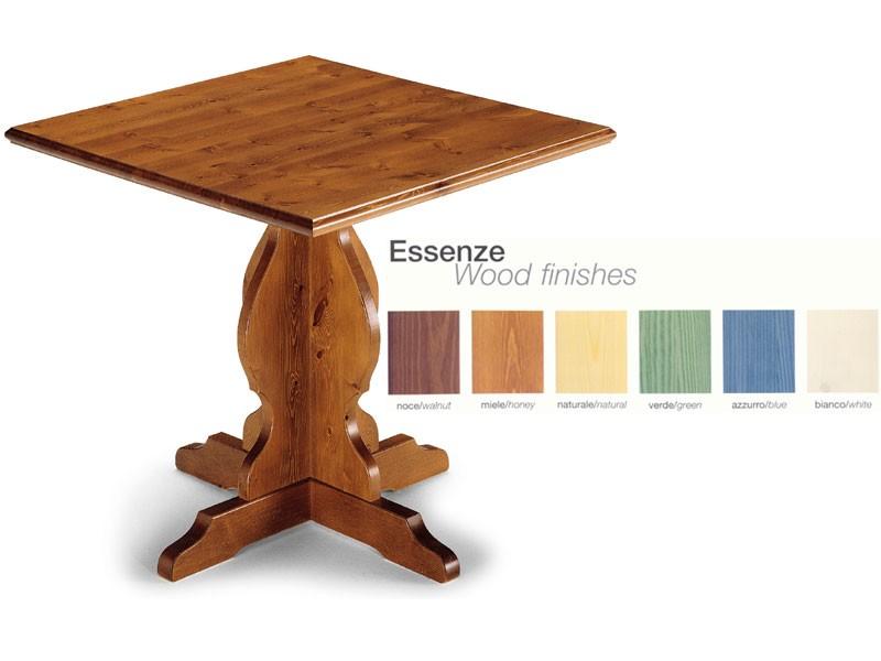 T/410, Mesa rústica, de madera maciza, para la cocina