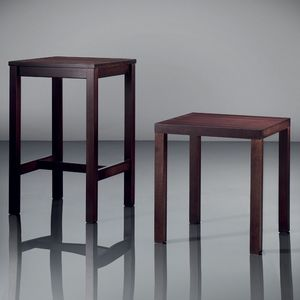ART. 263 FAST FOOD, Pequeñas mesas elegantes, de madera, de hotel