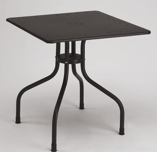 Arturo square table, Mesa de metal plaza para al aire libre, 80x80 cm