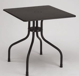 Arturo square table, Mesa de metal plaza para al aire libre, 80x80 cm