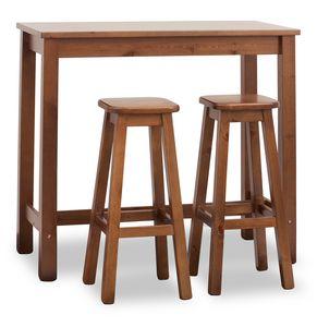 Bar Mesa rectangular, Mesa alta para barras, rectangular, de madera de pino