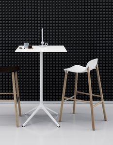 Elephant table Alto cuadrado, Alta mesa de diseño para bar, con base de 4 estrellas