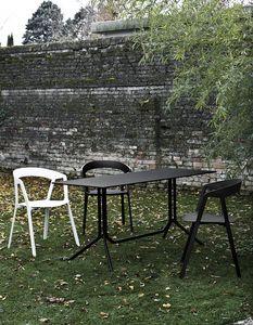 Poule rectangular, Mesa plegable en aluminio ligero